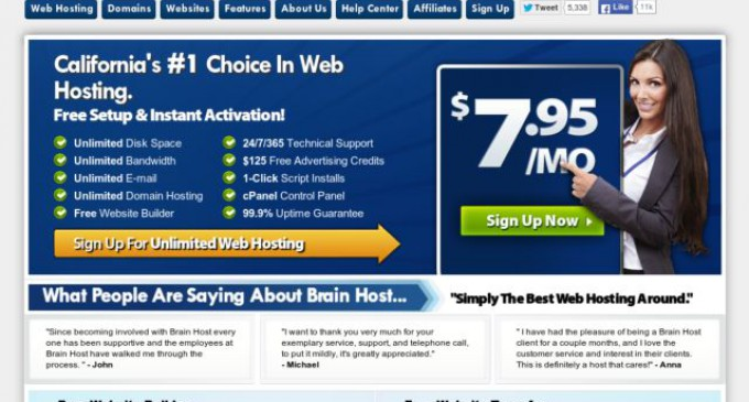 BrainHost Launches 1-2-3 Getting Your Website Online