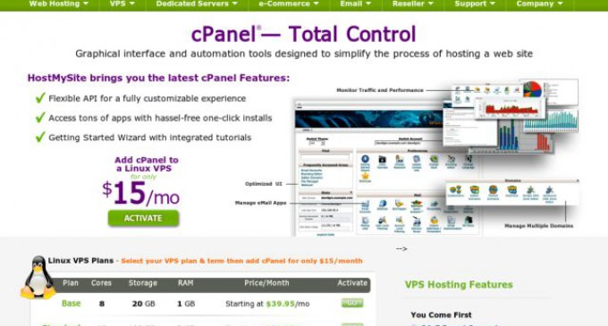 HostMySite offers cPanel for Free with all VPS & Dedicated Plans