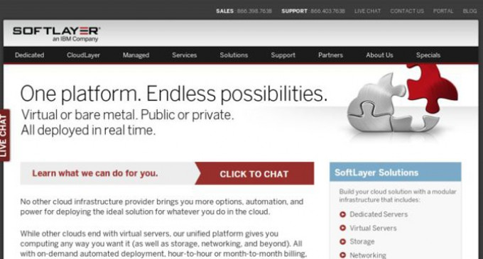 Softlayer.com Upgrades Global Platform to Include More RAM, More Bandwidth and More Drive at the Same Price