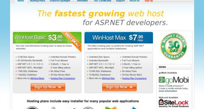 WinHost Now Offering 2 Months Free on Windows Hosting Plans