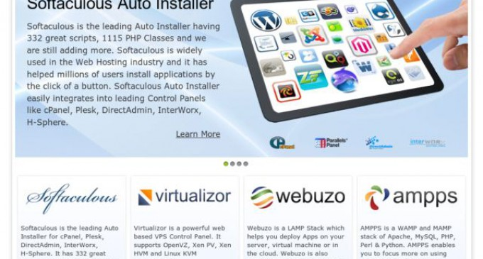 ReadySpace now offers Softaculous One Click Installer