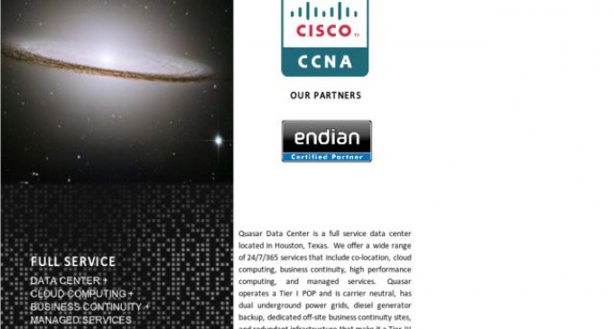 Quasar Data Center Expands Customized Colocation Services