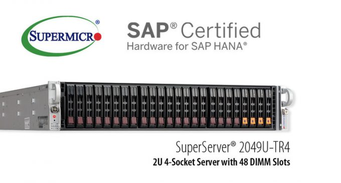 Supermicro Expands Enterprise Solutions Portfolio with New Scale-Up SuperServer Certified for SAP HANA®
