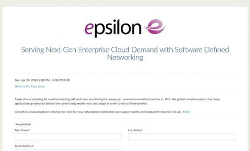 Epsilon to Host Webinar on Serving Next-Gen Enterprise Cloud Demand